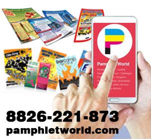 Full color glossy flyers/pamphlet/leaflet printer