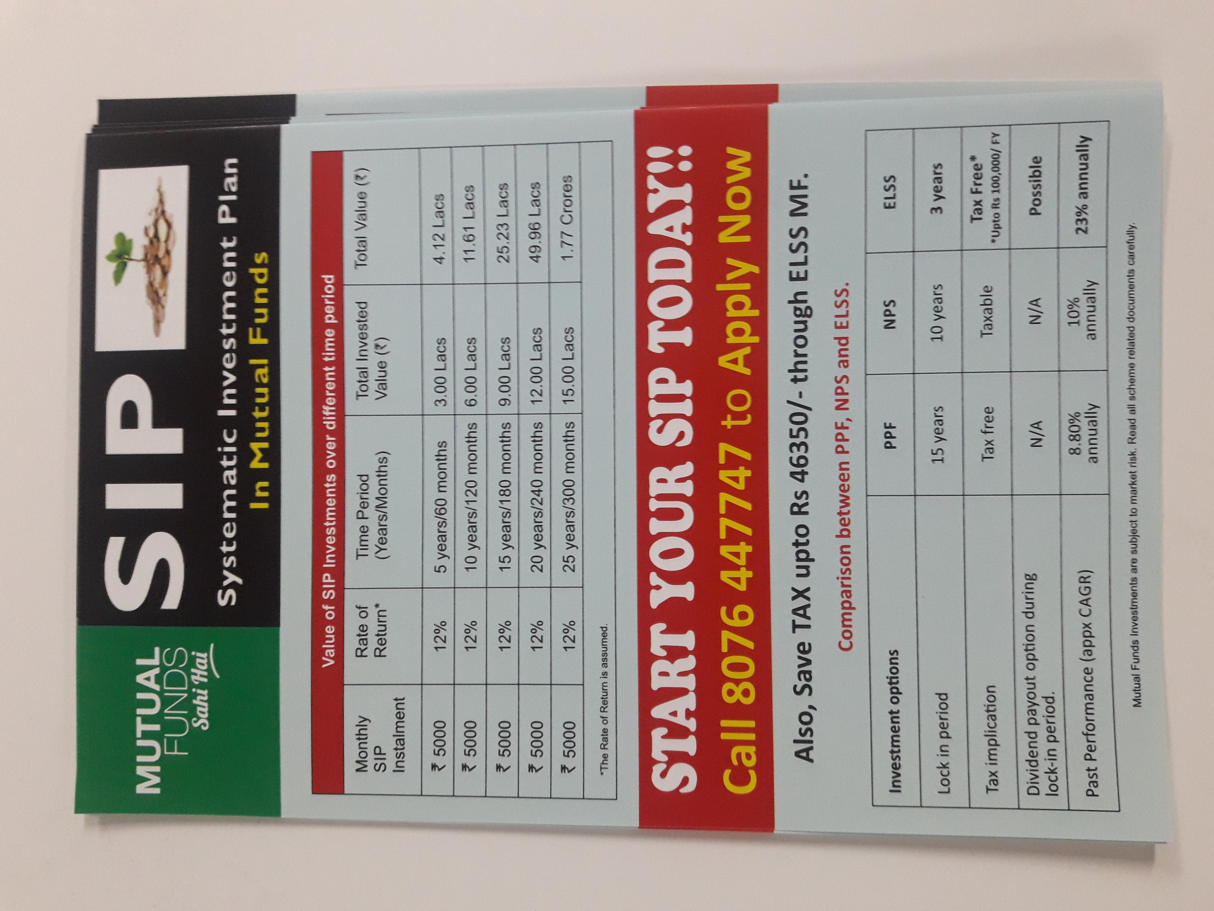 A5 size SIP Flyer